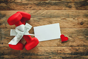 Картинка Праздники Доски Подарки Гантели Сердце Шаблон поздравительной открытки Бантик