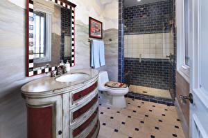 Обои Интерьер Дизайна Ванная Зеркало Туалет