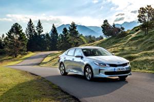 Фото KIA Голубой Металлик Гибридный автомобиль 2016 Optima Plug-In Hybrid