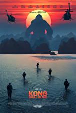 Картинка Конг: Остров черепа Солдаты Обезьяны Вода Десант Фильмы