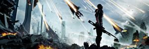 Фотографии Mass Effect 3 Фантастический мир Shepard Снайперская винтовка Фэнтези