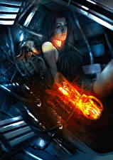 Обои Mass Effect 3 Miranda Девушки Фэнтези