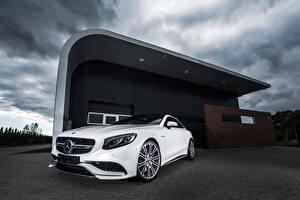 Фотографии Mercedes-Benz Белый Купе IMSA 2014 С217 AMG S-Class Автомобили