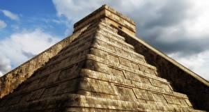Обои Мексика Пирамида Chichen Itza Maya