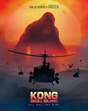 Обои Обезьяны Вертолеты Конг: Остров черепа