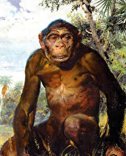 Фотографии Живопись Zdenek Burian Homo erectus