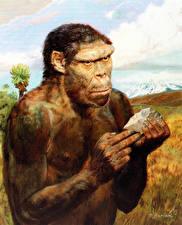 Фотография Живопись Zdenek Burian Homo erectus