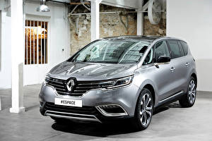 Обои Renault Серебристый 2015 Espace Автомобили