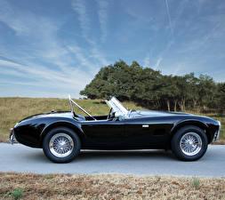 Фото Shelby Super Cars Черная Металлик Кабриолета Сбоку 1965 Cobra 289 автомобиль