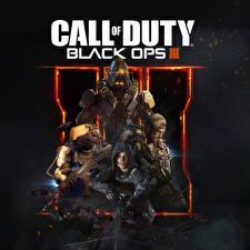 Картинка Солдаты Автоматы Call of Duty Black Ops III