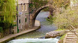 Фотографии Испания Речка Водопады Potes Cantabria Города