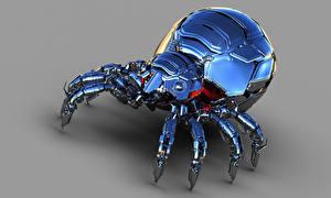 Картинка Пауки Робот Металлический Фэнтези