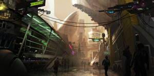 Фото Star Citizen Фантастический мир Улица Игры Фэнтези