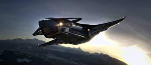 Обои Star Citizen Звездолёт компьютерная игра Космос Фэнтези