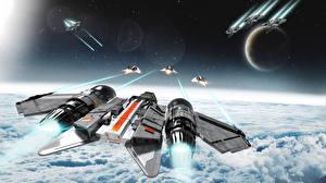 Фото Star Citizen Космолет Игры Космос Фэнтези