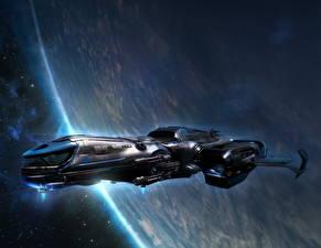 Фотография Star Citizen Звездолёт Поверхность планеты Космос