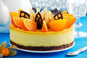 Картинка Сладости Торты Апельсин Шоколад Дизайн Продукты питания