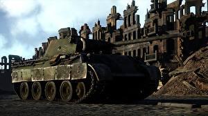 Фото War Thunder Танки Немецкий Panther Игры 3D_Графика