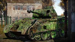 Картинка War Thunder Танки Немецкий Panther Игры 3D_Графика