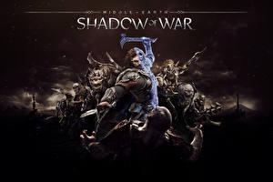 Фотография Воины Монстры Орки Доспехи Middle-earth Shadow of War Фэнтези