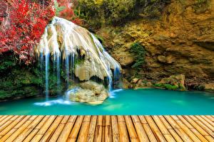 Фотография Водопады Камни Скала