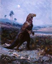 Фотографии Zdenek Burian Древние животные Динозавры Iguanodon Животные