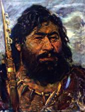 Фото Зденек Буриан Живопись Лицо Борода The Magdalenian Hunter