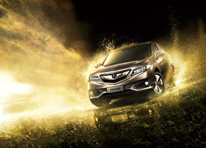 Фото Acura Коричневый Ночь Брызги 2015 RDX Автомобили
