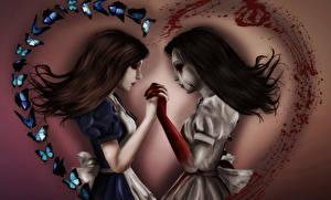 Фото Алиса 2 Волосы Кровь Madness Returns Игры Девушки