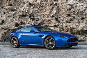 Картинка Aston Martin Синий Металлик 2017 V8 Vantage GTS автомобиль