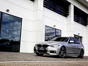 Обои для рабочего стола BMW Серебристый Универсал 2015 F31 40 YEARS Edition Touring 330d машина