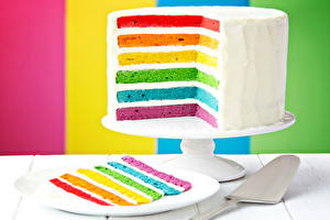 Обои Торты Разноцветные Еда