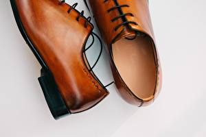 Фото Крупным планом Oxford shoe, leather