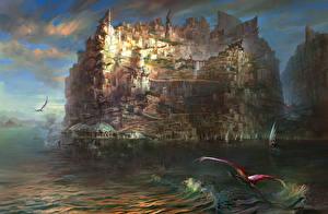 Фотографии Фантастический мир Torment Tides of Numenera Игры Города