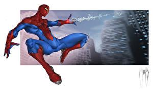 Обои Герои комиксов Человек паук герой Фэнтези картинки
