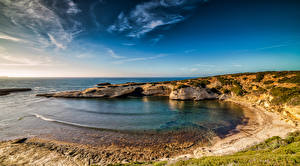 Фото Италия Побережье Небо Western Sardinia Природа