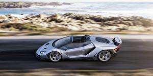 Картинки Lamborghini Сбоку Скорость Родстер Centenario Автомобили