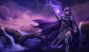 Обои Magic: The Gathering Магия Плащ Капюшон Девушки Фэнтези