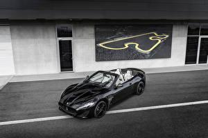 Фотографии Maserati Черная Кабриолет Металлик Роскошные 2017 GranCabrio Sport  Special Edition Автомобили