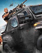 Фото Мужчины Дуэйн Джонсон Пулеметы Форсаж 8 Кино Знаменитости