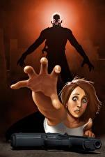 Обои Монстры Пистолеты Пальцы Руки Страх Фэнтези Девушки картинки