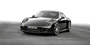 Фотография Порше Черный Металлик Купе 2015 Carrera 911 Автомобили