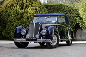 Фото Ретро Синие Металлик 1938-52 Salmson S4-61 Cabriolet Автомобили