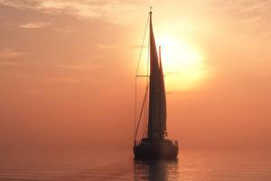Фотографии Парусные Море Яхта 3D Графика