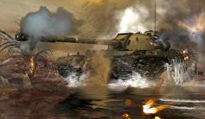 Обои Танки Русские T-54 3D Графика