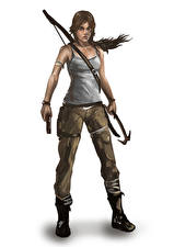 Фотография Tomb Raider 2013 Пистолеты Лара Крофт Девушки