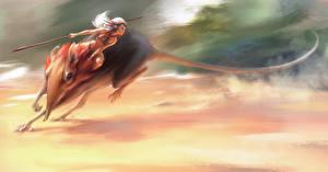 Фотография Воители Волшебные животные Копья Фэнтези