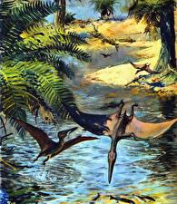 Фотографии Зденек Буриан Древние животные Динозавры Pterodactylus elegans