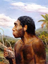 Картинки Zdenek Burian Живопись Homo erectus rhodesiensis