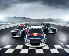 Фотография Ауди Стайлинг Ралли Трое 3 Спереди 2014-17 S1 EKS RX quattro Машины